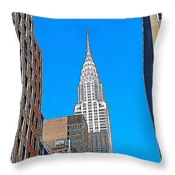 #tbt - #newyorkcity June 2013 Throw Pillow