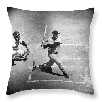 Ted Williams (1918-2002) Throw Pillow by Granger