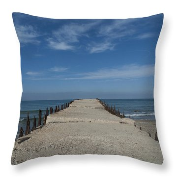 Throw Pillow featuring the photograph Tel Aviv Old Port 3 by Dubi Roman