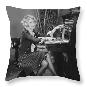 Telephone Exchange, 1920s Throw Pillow by Granger