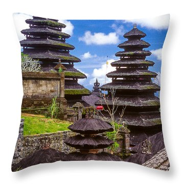 Throw Pillow featuring the photograph Temple City by T Brian Jones