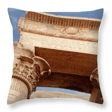 Throw Pillow featuring the photograph Temple Of Kom Ombo by Silvia Bruno