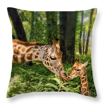 Tender Are The Moments Where Love Embraces Time Throw Pillow