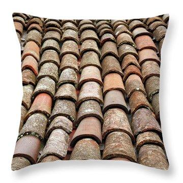 Terra Cotta Roof Tiles Throw Pillow by Gaspar Avila