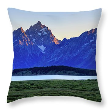 Teton Sunset Throw Pillow