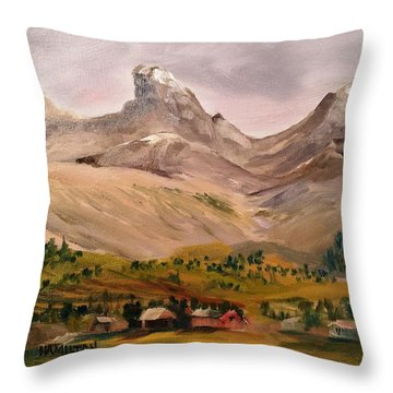 Tetons From The West Throw Pillow
