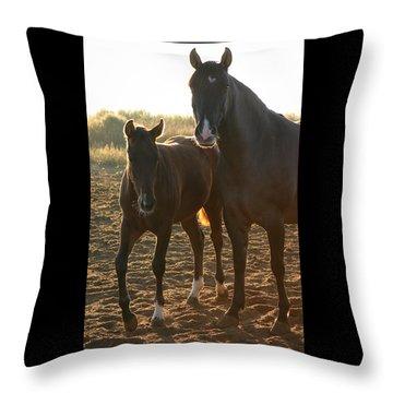 Texas Mare  Throw Pillow