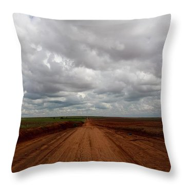 Texas Red Road Throw Pillow