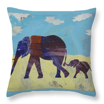 Throw Pillow featuring the painting Thanks Mom by Candace Shrope