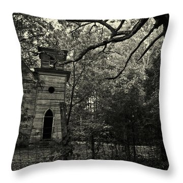 The Abandoned Church Throw Pillow