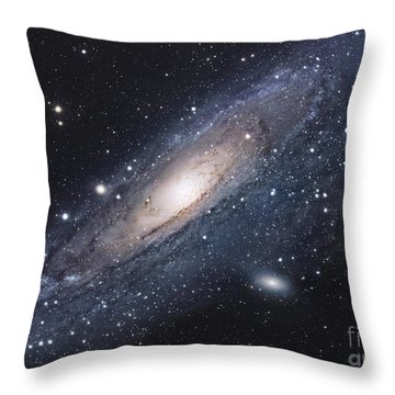 The Andromeda Galaxy Throw Pillow