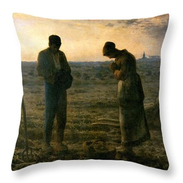 The Angelus Throw Pillow