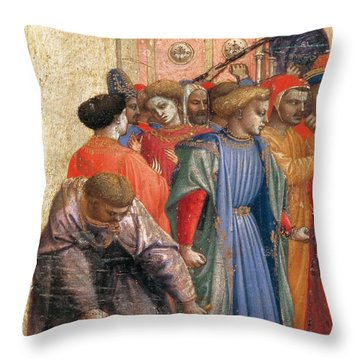 The Annunciation Throw Pillow by Fra Angelico