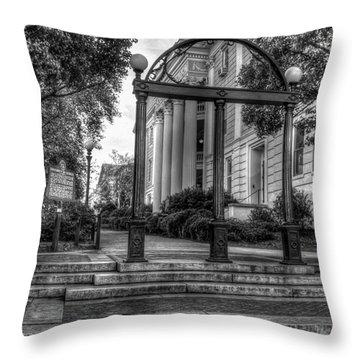 The Arch 5 University Of Georgia Arch Art Throw Pillow