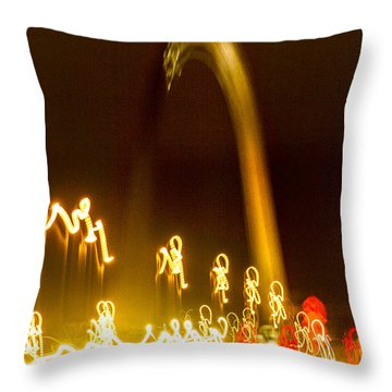The Arch As Seen From Interstate 70 While Driving Into St Louis Throw Pillow