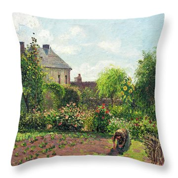 The Artist's Garden At Eragny Throw Pillow