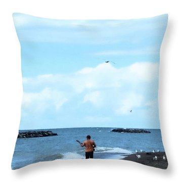 The Audience Throw Pillow