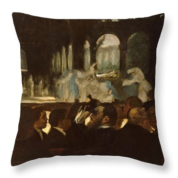 Throw Pillow featuring the painting The Ballet From Robert Le Diable by Edgar Degas