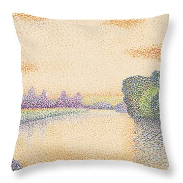 The Banks Of The Marne At Dawn Throw Pillow