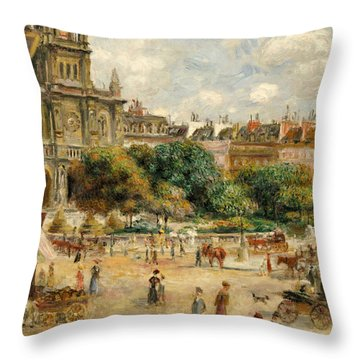 Place De La Trinite, 1893 Throw Pillow