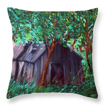 The Barn Throw Pillow