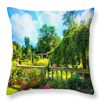 The Beauty Of Nature Throw Pillow by Judy Palkimas