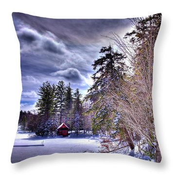 Throw Pillow featuring the photograph The Beaver Brook Boathouse by David Patterson