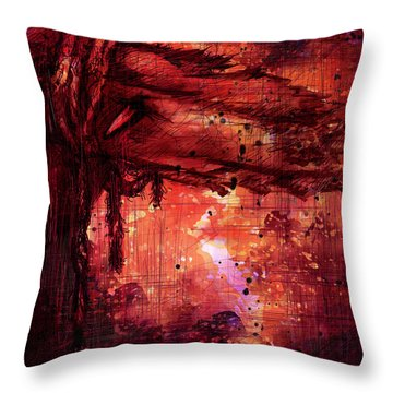 The Beloved Throw Pillow by Rachel Christine Nowicki