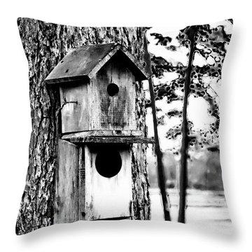 The Bird Feeder Throw Pillow