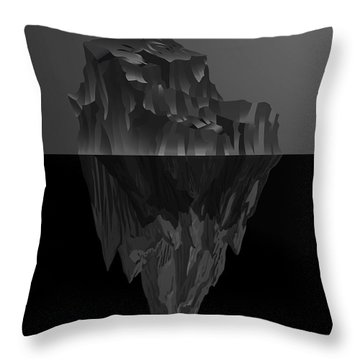 The Black Iceberg Throw Pillow by Serge Averbukh