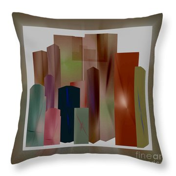 Throw Pillow featuring the digital art The Block by John Krakora