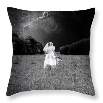 The Bride Throw Pillow by Joana Kruse