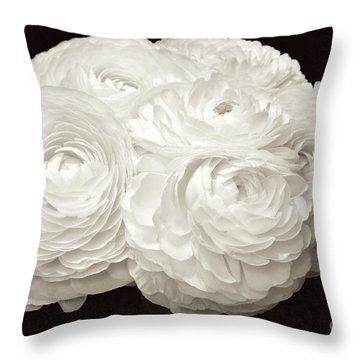 The Brides Bouquet Throw Pillow by Jeannie Rhode