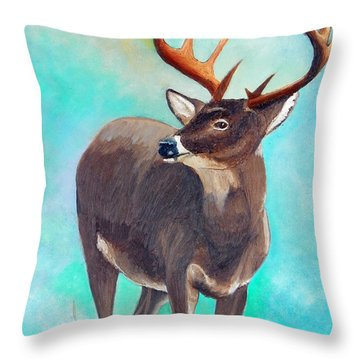 the Buck Stops Here Throw Pillow by Sherril Porter