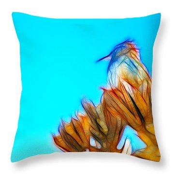The Cactus Wren Throw Pillow