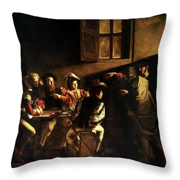 The Calling Of St. Matthew Throw Pillow