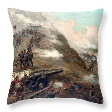 The Capture Of Fort Fisher Throw Pillow by War Is Hell Store