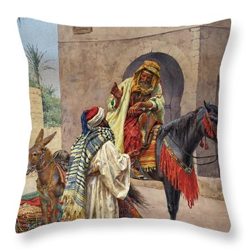 The Carpet Seller Throw Pillow