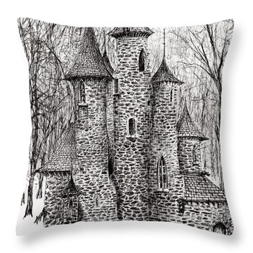 The Castle In The Forest Of Findhorn Throw Pillow