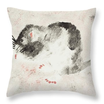 The Cool Chick Throw Pillow