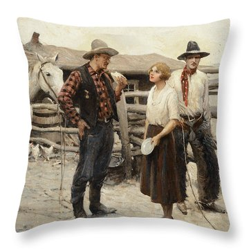 The Covered Wagon Throw Pillow
