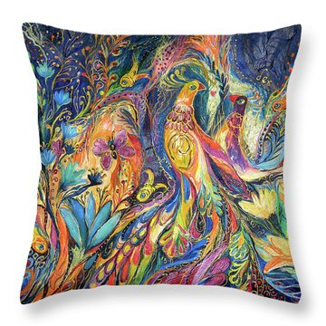 The Dance Of Oranges Throw Pillow