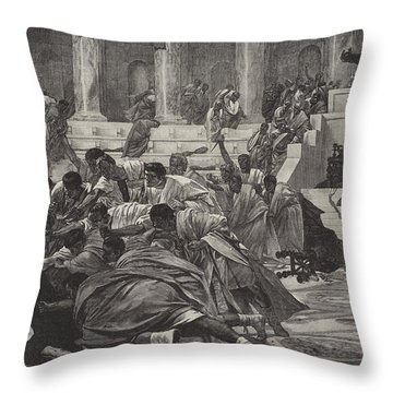 The Death Of Caesar Throw Pillow
