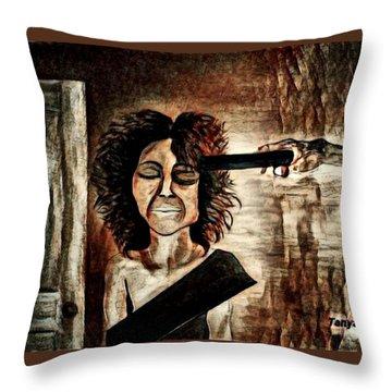 The Debt Collector Throw Pillow
