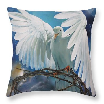 The Dove Throw Pillow by Larry Cole