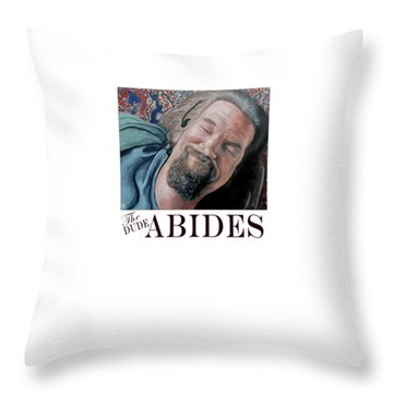 Throw Pillow featuring the painting The Dude Abides by Tom Roderick