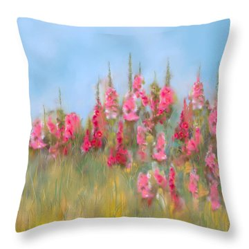The Earth Laughs In Flowers Throw Pillow