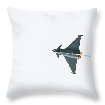 The Eurofighter Typhoon Throw Pillow
