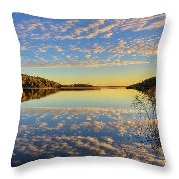 The Evening Light Throw Pillow
