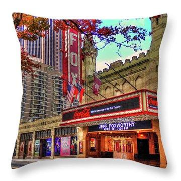 The Fabulous Fox Theatre Atlanta Georgia Art Throw Pillow by Reid Callaway